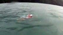 Rémy Viallon en eau libre