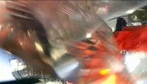 Difunden las imágenes del impactante choque de un helicóptero y una avioneta en pleno vuelo
