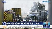 La première photo du braquage spectaculaire d'un fourgon sur l'A43, près de Lyon