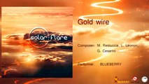Blueberry - Gold wire