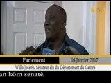 Processus d'enregistrement des nouveaux sénateurs  élus