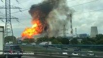 Mindestens 8 Verletzte bei riesigem Feuer in Moskau