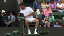 Tennis - Wimbledon - Henri Leconte and Patrick McEnroe decided to spice up their opening round match with Jacco Eltingh and Paul Haarhuis by inviting the umpire to take part