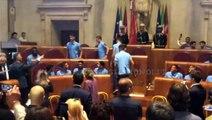 VIDEO - LAZIO IN CAMPIDOGLIO - ARRIVO SQUADRA - ARRIVO RAGGI- INNO D'ITALIA E INTRO