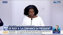 """Sibeth Ndiaye déclare que François de Rugy """"conserve bien évidemment la confiance du Président et du Premier ministre"""""""
