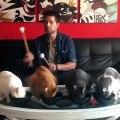 Cet homme utilise des chats comme instruments de musique. Hilarant !