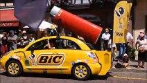 Obernai : le Tour de France côté caravane (bruyante) et cyclistes en trombe