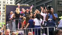 Fans turn out to honour their role models at NYC parade for victorious U.S. team