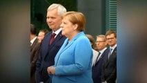 Merkel é vista tremendo em nova cerimônia oficial