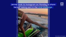 Kendall Jenner Does Bottle Cap Challenge While Jet Skiing