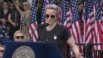 """I couldn't be more proud"": Megan Rapinoe speaks as New York City honors Women's World Cup champions"