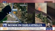Un incendie est en cours à Vitrolles près de la gare et de l'autoroute A7
