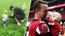 Matt Ryan Tries and Fails to Teach 1-Year-Old Twins Football
