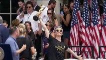 Retour triomphal des Américaines championnes du monde de football
