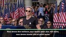 Le discours de Megan Rapinoe devant la foule