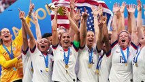 """The U.S. women's soccer team led crowds through """"Equal Pay!"""" chants during their parade, and we stan"""