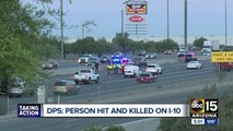 I-10 reopens after person hit and killed on Arizona freeway