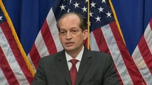 "Labor Secretary Alex Acosta: My relationship with Trump is ""outstanding"""