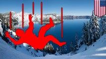 【カルデラ】クレーター湖の淵から男性が約240メートル落下 - トモニュース