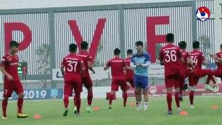 Phỏng vấn sau trận giao hữu chuẩn bị cho giải bóng đá vô địch U18 ĐNA và SEA Games 30 | VFF Channel