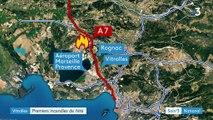 Bouches-du-Rhône : incendie maîtrisé le long de l'A7 près de Vitrolles
