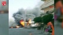 Afrin'de bomba yüklü araçla saldırı 4 ölü