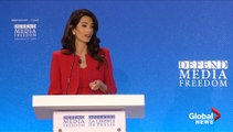 Media freedom envoy Amal Clooney outlines role in release of Reuters journalists - Watch News Videos Online