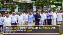 Karnataka Crisis: SC intervenes for the Rebel MLAs