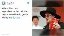 Gastronomie : Marc Veyrat se retire du guide Michelin