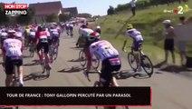Tour de France 2019 : Le français Tony Gallopin percute un parasol en pleine course (Vidéo)