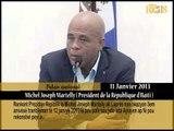 Rankont Prezidan Michel Joseph Martelly ak laprès nan okazyon 3em anivèsè tranbleman Tè 12 janvy