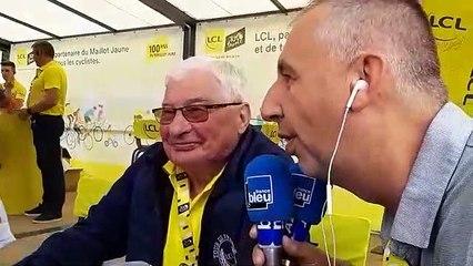 Raymond Poulidor au départ de la 6e étape à Mulhouse