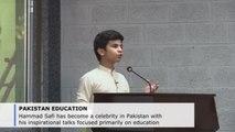 Pakistan's Little Professor captivates crowds with motivational speeches