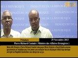 Minis Afè Etranjè a Pierre Richard Casimir akonpaye Minis Enteryè a David Bazile anonse Gouvènman an
