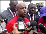 Le premier ministre Laurent Salvador Lamothe  a efféctué une visite dans le département du centre.