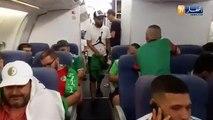 Les fans algériens mettent une ambiance géniale dans l'avion
