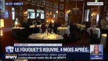 Quatre mois après les dégradations, le Fouquet's rouvre ses portes