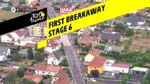 Première echapée / First breakaway - Étape 6 / Stage 6 - Tour de France 2019