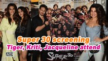 Super 30 screening | Tiger, Kriti, Jacqueline watch Hrithik's film