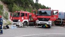 Εκκενώθηκαν 2 κατασκηνώσεις στον Παρνασσό μετά από φωτιά