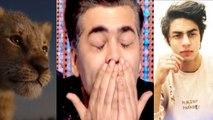 The Lion King Teaser: Karan Johar gets emotional after hearing Aryan Khan's voice    FilmiBeat