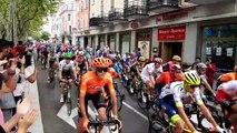 Tour de France: le passage du peloton rue Franklin et place du Marché à Mulhouse