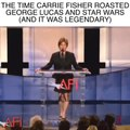 Carrie Fisher Roasts George Lucas And Star Wars