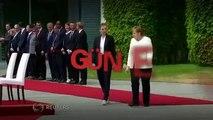 Almanya Başbakanı Merkel'in titreme nöbetine 'sandalyeli' özel önlem