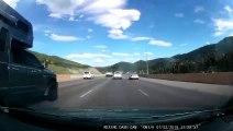 Un automobiliste perd le contrôle de sa voiture et fait un 360°….