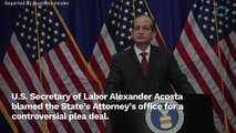 Alexander Acosta Tries To Take Away Blame For Jeffrey Epstein's 2008 Plea Deal