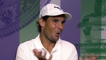 Wimbledon 2019 - When Rafael Nadal gently reframes a journalist on the Barty controversy
