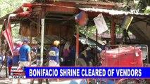 Bonifacio Shrine cleared of vendors