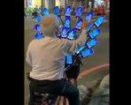 Il installe 30 téléphones sur son vélo pour jouer à Pokemon Go !