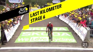 Last kilometer / Flamme rouge - Étape 6 / Stage 6 - Tour de France 2019